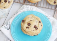 This classic chewy chocolate chip cookie recipe is better than your grandma's!
