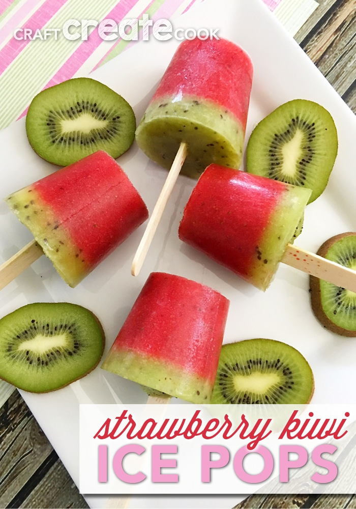 With only three ingredients, these strawberry kiwi ice pops will be a big hit this summer.