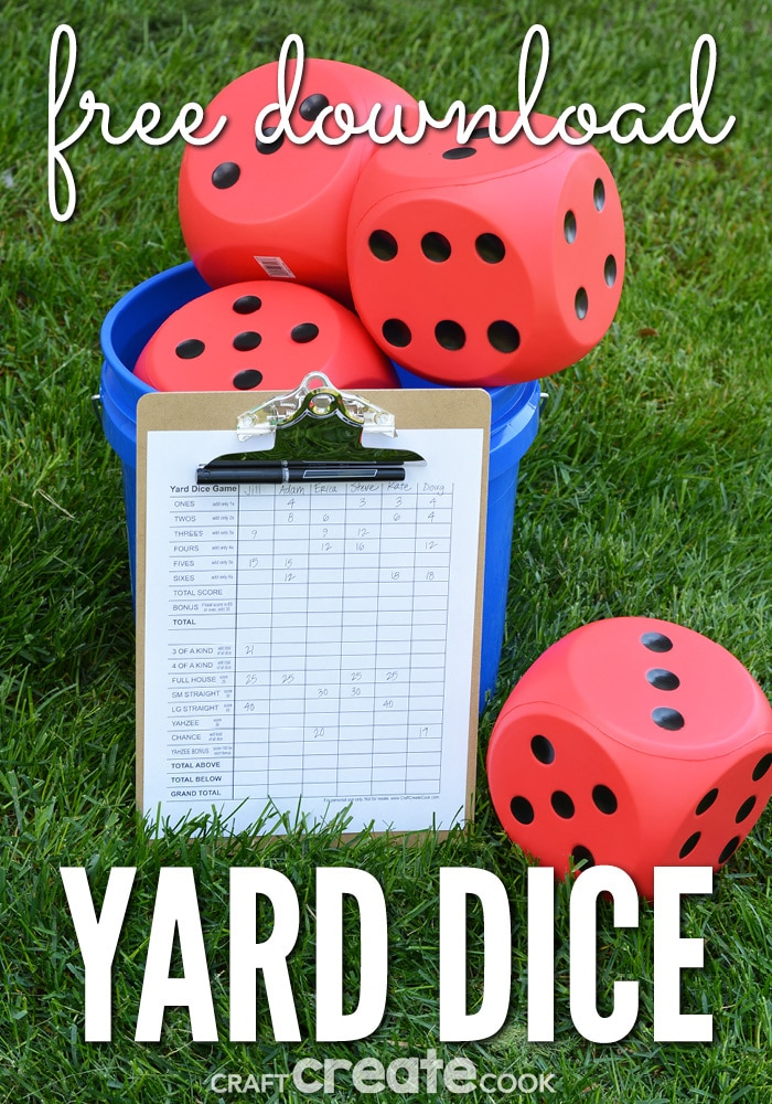 Craft Create Cook Diy Yard Dice Game Craft Create Cook
