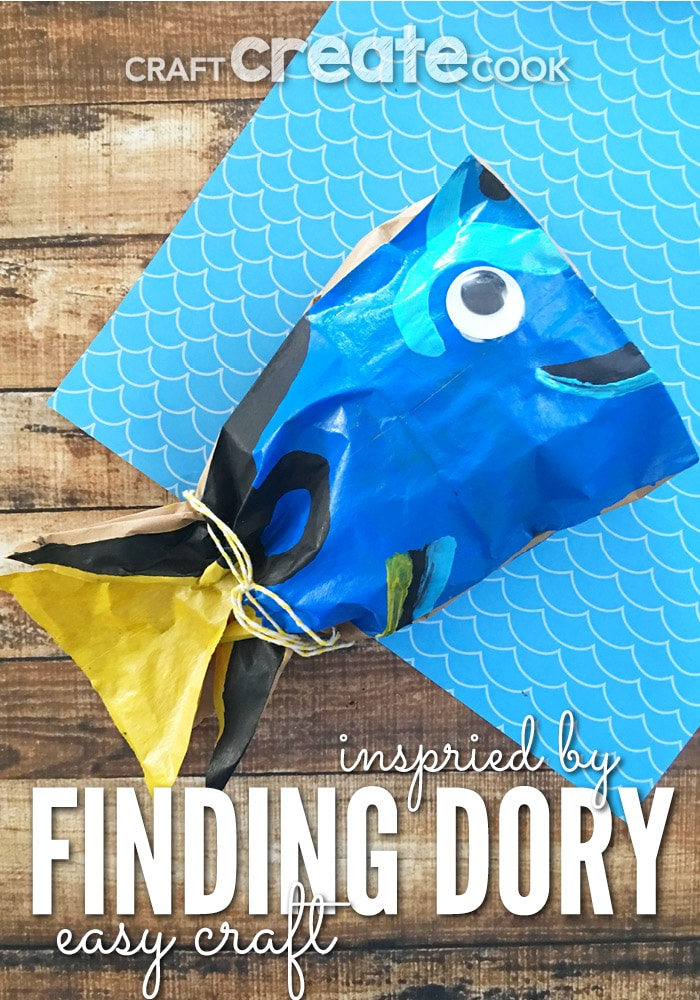 Once you've seen the movie, you'll fall in love with the fish named Dory. Make this easy Finding Dory Fish Craft, too!