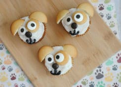 Your kids will love these Secret Life of Pet's Max inspired cupcakes!