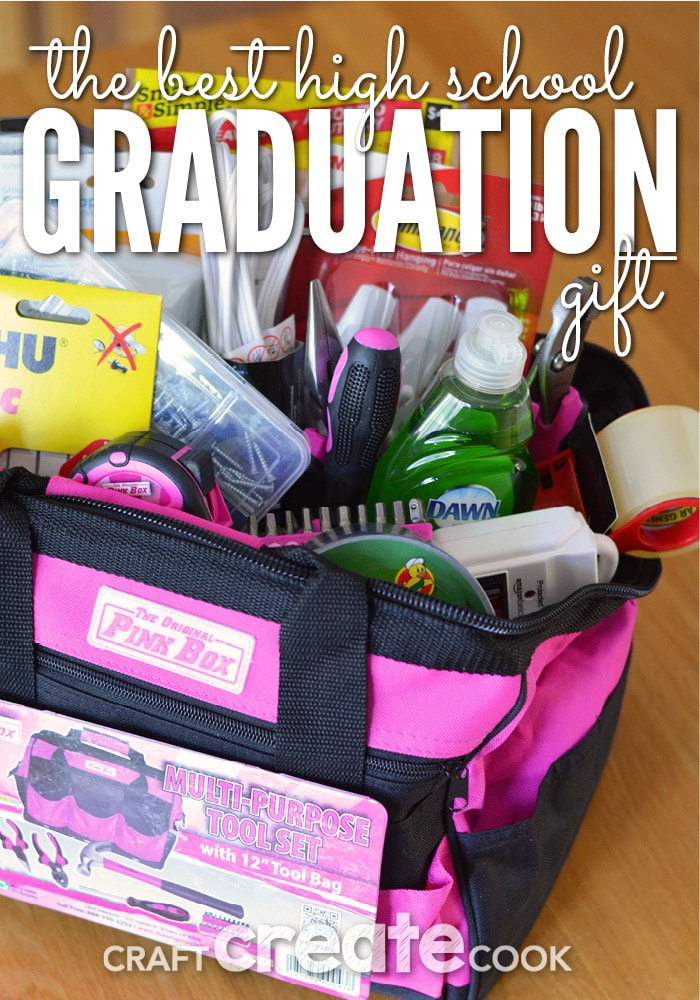 With high school graduation season in full force, you'll want to make this memorable and useful gift for your college bound friends.
