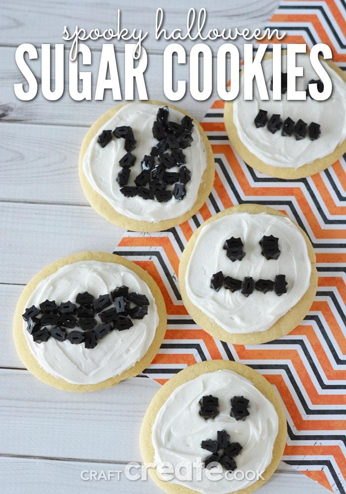 spooky halloween sugar cookies from craftcreatecook.com