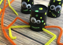 These silly spiders will be great for the kids to make!
