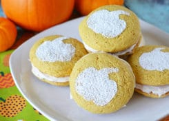This semi-homemade pumpkin whoopie pie recipe is easy to make!