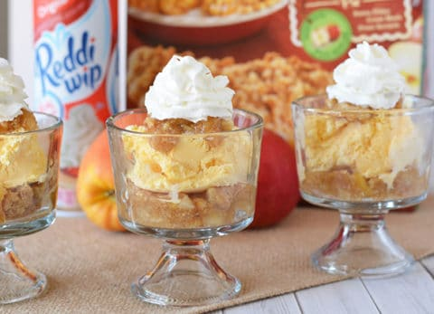 Whether it's pumpkin or apple pie, use the left overs from your holiday meals to make this easy trifle recipe!