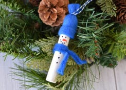You'll want to set aside an afternoon to make lots of these easy snowman ornaments to attach to all of your gifts and give to your family and friends this holiday season.