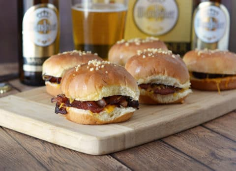 You won't be disappointed with these Gourmet Beer Bacon Grilled Cheese Sandwiches, perfect for that game day celebration!