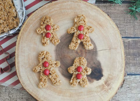 Looking for a last minute Christmas treat? These Gingerbread Rice Krispie Treats are as adorable as they are delicious!