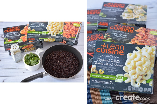 Craft create cook black lentils spinach craft create for Are lean cuisine healthy
