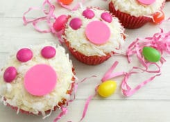 These Bunny Print Easter Cupcakes will be a perfect treat to make with the kids this Easter.