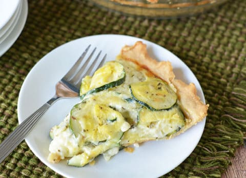 This quiche-like Zucchini Pie Recipe is perfect for a meatless Monday dinner or a weekend brunch.