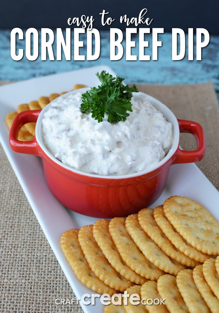 If you've made corned beef for St. Patrick's Day, save a few slices for this amazing corned beef dip.