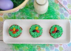Bunny Basket Easter Brownies and as cute as they are tasty!