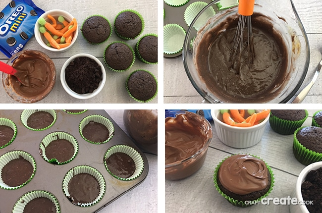 These Double Chocolate Carrot Cupcakes are the perfect dessert to get you thinking about Spring.
