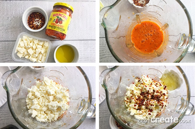 This 4 Ingredient Fiery Feta Dip is both savory and spicy and is sure to have you coming back for more.